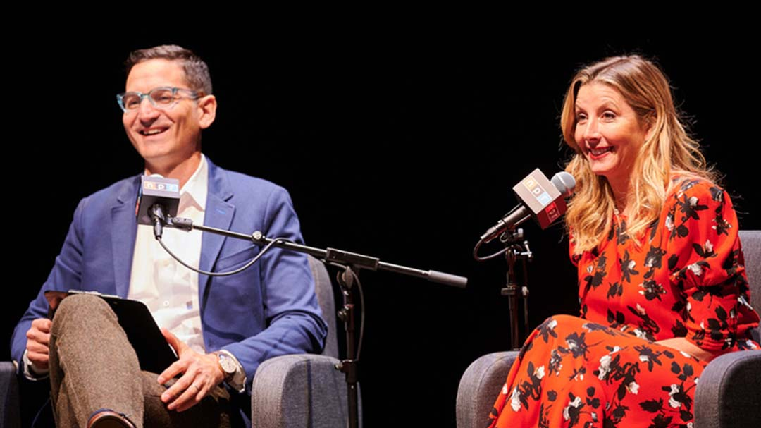 Guy Raz interviews Sara Blakley of Spanx at the 2019 How I Built This Summit