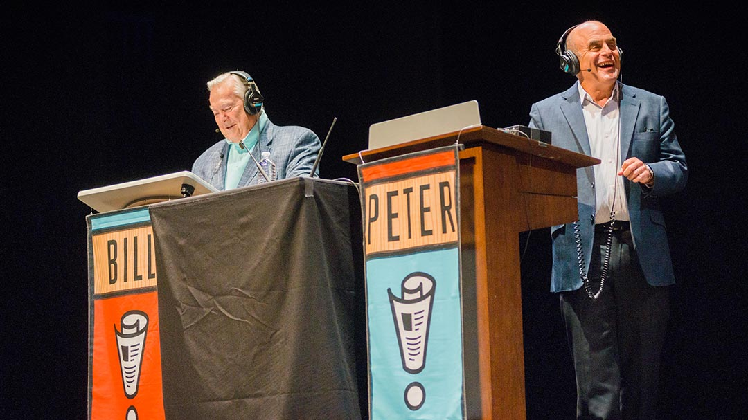 Peter Sagal and Bill Kurtis host the 1000th episode of Wait Wait...Don't Tell Me! live at Eccles Theater in Salt Lake City