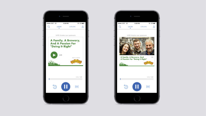 NPR One mobile display example